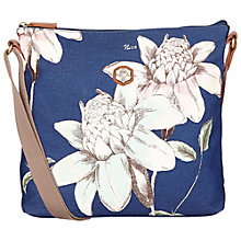Buy Nica Sheila Messenger Denim Flower Print Bag, Blue Online at johnlewis.com