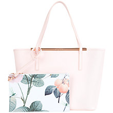 Buy Ted Baker Tulip Crosshatch Leather Shopper Bag Online at johnlewis.com