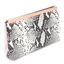 Buy Ted Baker Reni Leather Folded Clutch Bag Online at johnlewis.com