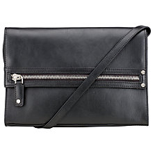 Buy Kin by John Lewis Ake Zip Leather Clutch, Black Online at johnlewis.com