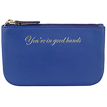 Buy COLLECTION by John Lewis Hayley 'You're In Good Hands' Slogan Leather Coin Purse, Blue Online at johnlewis.com