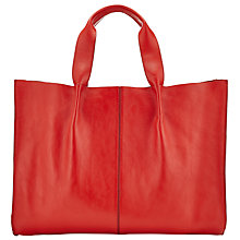 Buy John Lewis Thora Raw Edge Leather Tote Bag Online at johnlewis.com