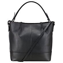 Buy Kin by John Lewis Loren Leather Bucket Bag, Black Online at johnlewis.com