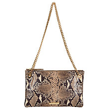 Buy Somerset by Alice Temperley Taunton Acrossbody Leather Clutch Bag, Snake Print Online at johnlewis.com