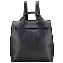 Buy Kin by John Lewis Ragna Leather Backpack, Black Online at johnlewis.com