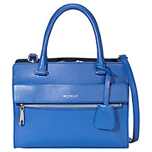 Buy Modalu Erin Leather Small Grab Bag, Ocean Blue Online at johnlewis.com