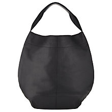 Buy Kin by John Lewis Sonja Leather Hobo Bag, Black Online at johnlewis.com