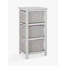 Buy John Lewis Croft Collection Rattan 3-Drawer Unit, Grey Online at johnlewis.com