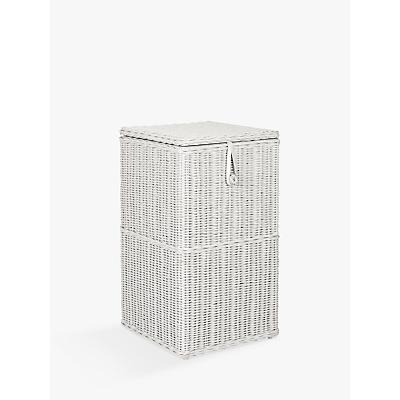 John Lewis Croft Collection Rattan Square Linen Bin, Grey