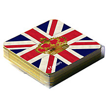 Buy Crown and Union Jack Coasters, Set of 4 Online at johnlewis.com