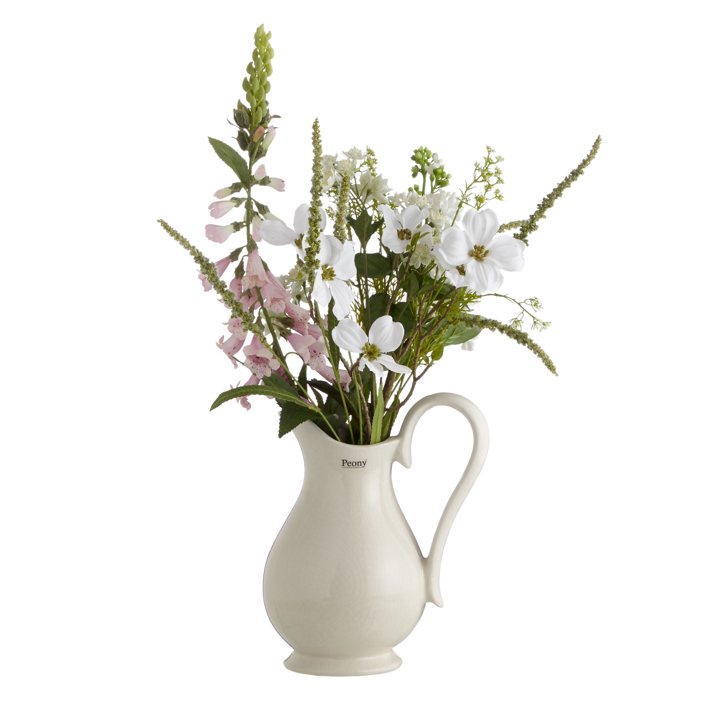 Peony Peony Cottage Garden Mixed Flowers in a Jug, Large