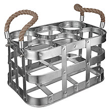 Buy Croft 6 Bottle Caddy with Rope Handles Online at johnlewis.com