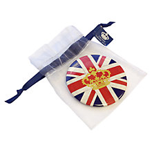 Buy Crown and Union Jack Button Mirror Online at johnlewis.com