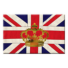 Buy Crown and Union Jack Magnet Online at johnlewis.com