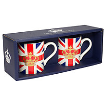 Buy Crown and Union Jack Espresso Cups, Set of 2 Online at johnlewis.com