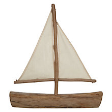Buy Two's Company Driftwood Sailboat, Large Online at johnlewis.com