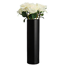 Buy Peony Cream Roses in Tall Black Vase Online at johnlewis.com