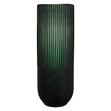 Buy Poshe Cut Glass Vase, Green, Large Online at johnlewis.com