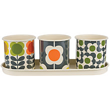 Buy Orla Kiely Herb Pots With Tray Online at johnlewis.com