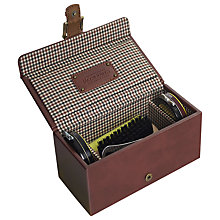 Buy Jacob Jones Checked Shoe Shine Kit Box Online at johnlewis.com