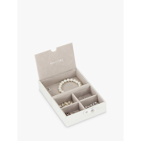 Buy stackers travel tray white john lewis for Stackers jewelry box canada