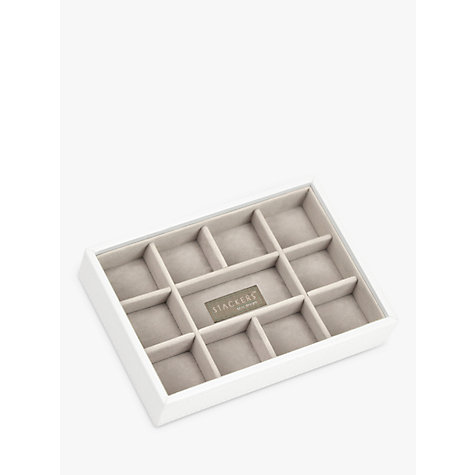 Buy stackers mini jewellery tray white john lewis for Stackers jewelry box canada