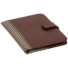 Buy Jacob Jones Check Travel Document Holder, Brown Online at johnlewis.com
