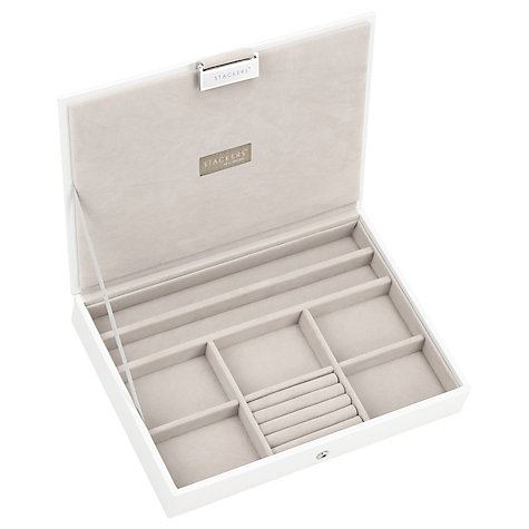 Buy stackers jewellery box lid white john lewis for Stackers jewelry box canada