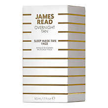 Buy James Read Overnight Tan Sleep Mask Face, 50ml Online at johnlewis.com