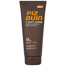 Buy Piz Buin 1 Day Long SPF15 Sun Lotion, 200ml Online at johnlewis.com