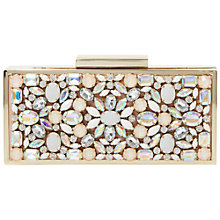 Buy Dune Beryl Embellished Clutch Bag, Nude Online at johnlewis.com