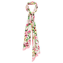 Buy Viyella Silk Floral Scarf, Yellow Online at johnlewis.com