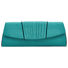 Buy Jacques Vert Pleat Clutch Bag, Emerald Online at johnlewis.com