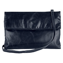 Buy Oasis Leather Poppy Foldover Clutch Bag Online at johnlewis.com