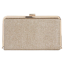 Buy Oasis Ruby Glitter Clutch Bag, Gold Online at johnlewis.com