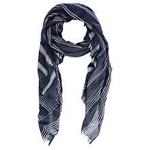 Buy Warehouse Oversized Checked Scarf, Blue Online at johnlewis.com