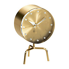 Buy Vitra George Nelson Tripod Mantle Clock, Gold Online at johnlewis.com