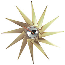 Buy Vitra George Nelson Turbine Clock Brass, Dia. 76cm Online at johnlewis.com