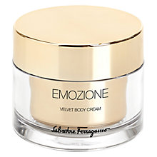 Buy Salvatore Ferragamo Emozione Velvet Body Cream, 150ml Online at johnlewis.com