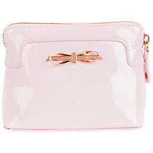 Buy Ted Baker Hanha Leather Bow Wash Bag Online at johnlewis.com
