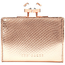 Buy Ted Baker Jowanna Popper Leather Purse, Rose Gold Online at johnlewis.com