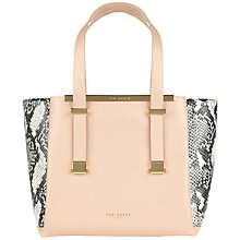 Buy Ted Baker Nalini Exotic Leather Shopper Bag Online at johnlewis.com