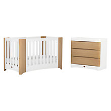 Buy Boori Dawn Cot Bed and Dresser Furniture Set and Conversion Kit, Beech/White Online at johnlewis.com
