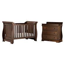 Buy Boori Sleigh Cotbed and Three Drawer Dresser Furniture Set, English Oak Online at johnlewis.com