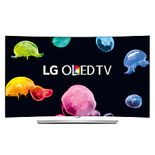 "Buy LG 65EG960V Curved 4K Ultra HD OLED 3D Smart TV, 65"" with Freeview HD, Harman Kardon Audio & 2x 3D glasses Online at johnlewis.com"