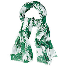 Buy White Stuff Terrarium Leaf Scarf, Off White Online at johnlewis.com