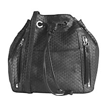 Buy Gerard Darel Mini Seau Rebelle Leather Shoulder Bag, Black Online at johnlewis.com