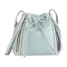 Buy Gerard Darel Mini Seau Rebelle Leather Shoulder Bag, Steel Blue Online at johnlewis.com