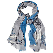 Buy White Stuff All-Over Bird Print Scarf, Blue Online at johnlewis.com