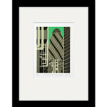 Buy Jennie Ing - The Gherkin Framed Print, 34 x 44cm Online at johnlewis.com